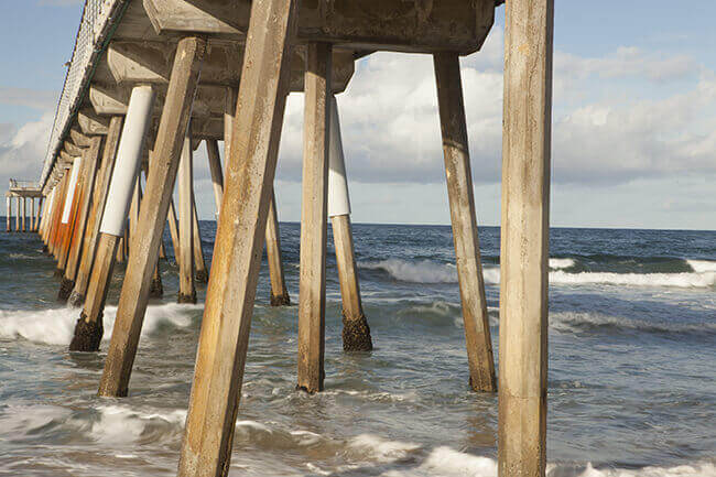 Dr. Latner Photography of under the boardwalk during the day