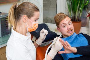 man afraid of dentist